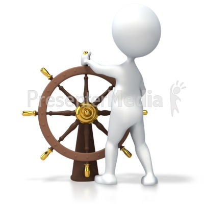 Leader At Helm Presentation clipart