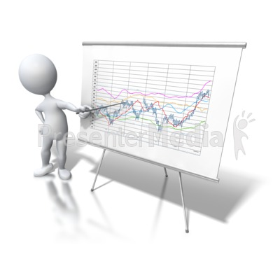 Stick Figure Chart Data Trend Presentation clipart