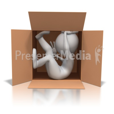 Stick Figure Close Quarters Presentation clipart