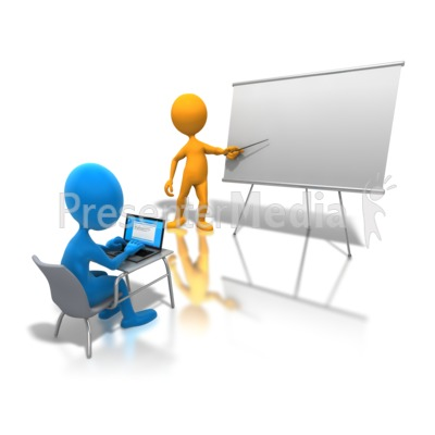Online Classroom Learning Presentation clipart