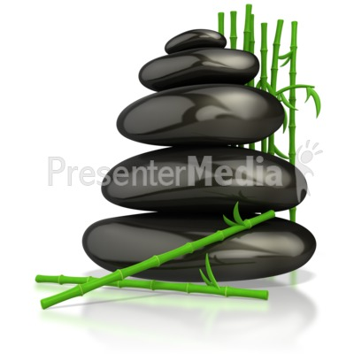 Relaxing Zen Massage Stones  Presentation clipart