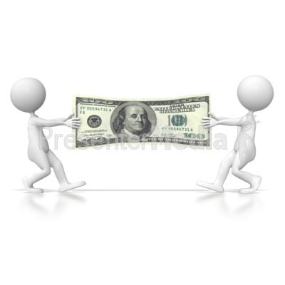 Dollar Tug of War  Presentation clipart
