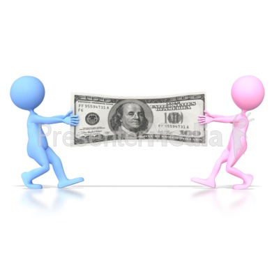 Couples Money War  Presentation clipart