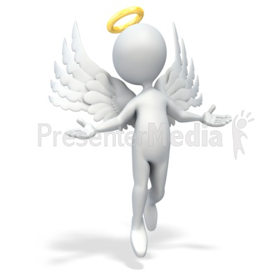 Angel Figure Presentation clipart