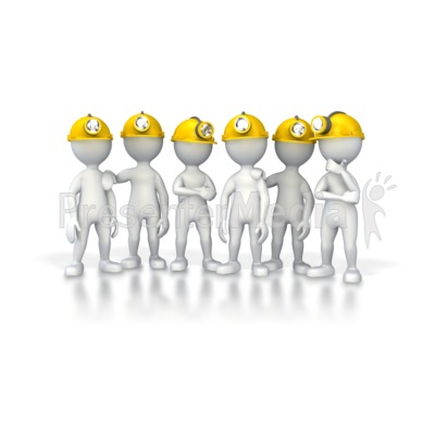 Group Of Miners Presentation clipart