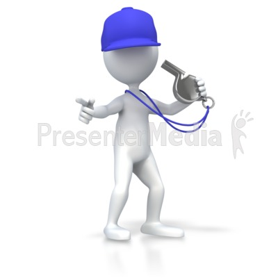 Coach With Whistle Presentation clipart