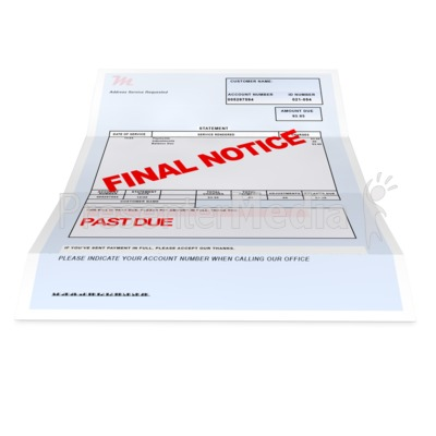Medical Bill Past Due Presentation clipart