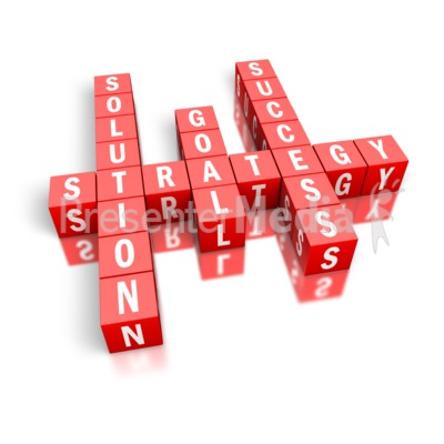 Strategy Success Block Puzzle Presentation clipart