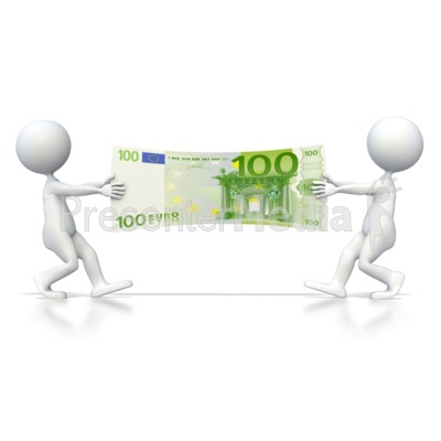 Euro Tug of War  Presentation clipart