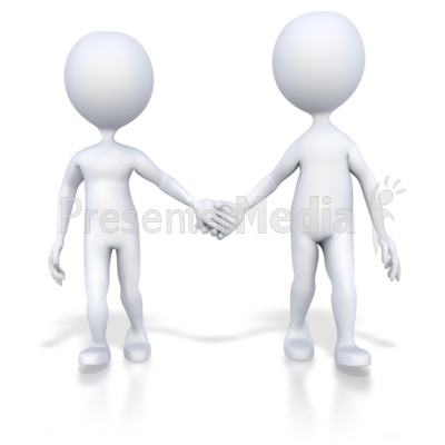 Couple Holding Hands Walking Presentation clipart