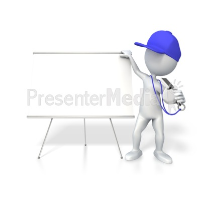 Coach With Whiteboard Presentation clipart