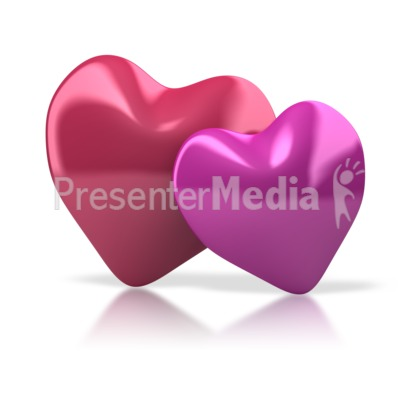 Pair Of Hearts Presentation clipart