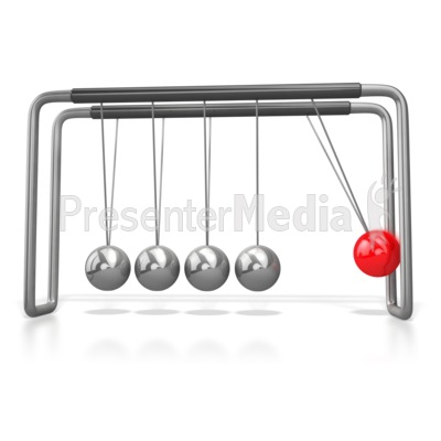 Stand Out Pendulum Ball Newtons Cradle Presentation clipart