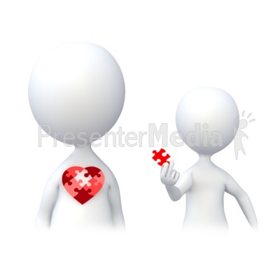 Holding a Piece of the Heart Presentation clipart