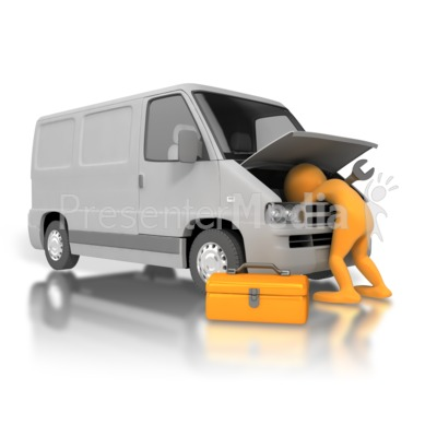 Mechanic Fix Van Presentation clipart
