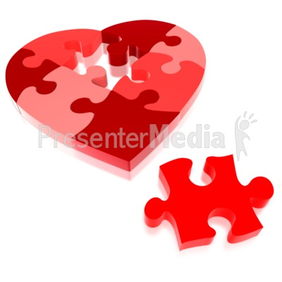Heart Puzzle Piece Missing  Presentation clipart