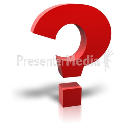 Single Red Question Mark Presentation clipart