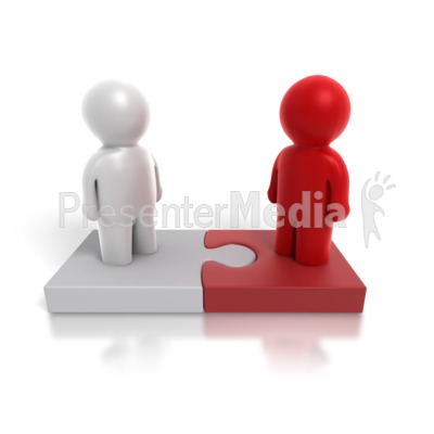 Two Way Puzzle People Presentation clipart