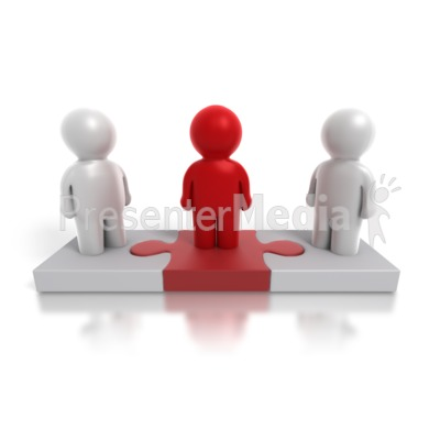 Three Way Puzzle People Presentation clipart