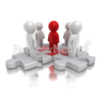 Five Way Puzzle People Presentation clipart