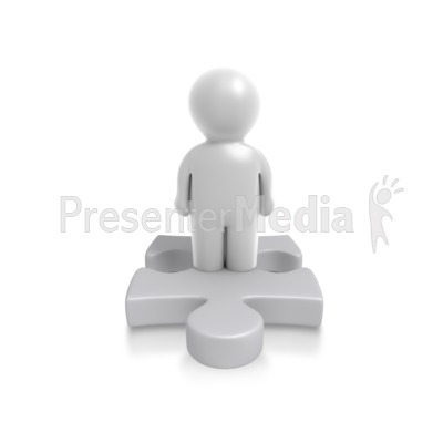 Single Puzzle Person Presentation clipart