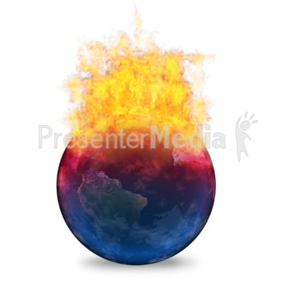 Global Warming Heating Up Earth Presentation clipart