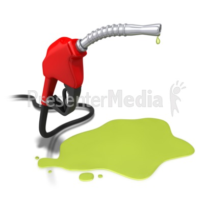 Gas Pump Nozzle Spill Presentation clipart