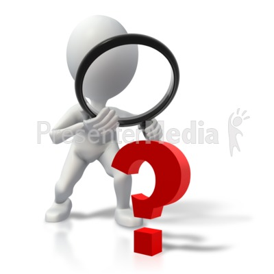 Stick Figure Searching For Answers Presentation clipart