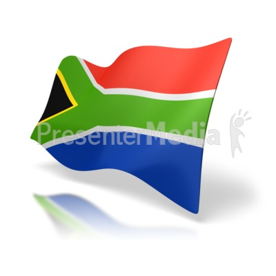 South Africa Flag Perspective Presentation clipart