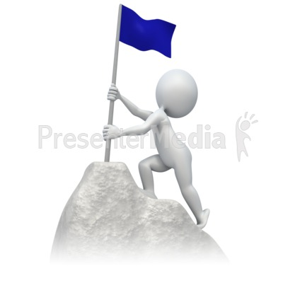 Flag At Summit Presentation clipart