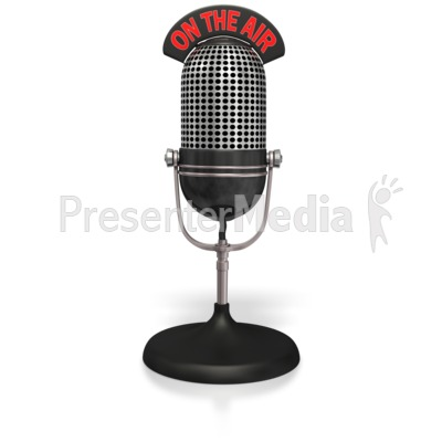 Radio Mic On The Air  Presentation clipart