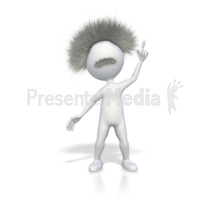 Smart Stick Figure with a Brilliant Idea Presentation clipart