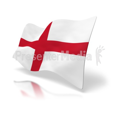England Flag St. George's Cross Presentation clipart