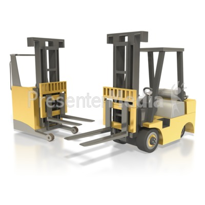 Forklift And Reach Truck Presentation clipart