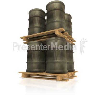 Pallet of Barrels Stacked Presentation clipart
