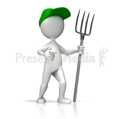 Farmer Pitch Fork Presentation clipart