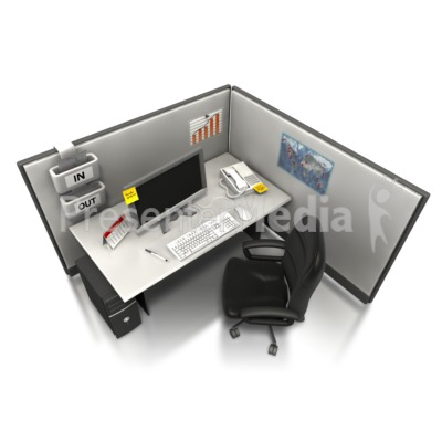 Empty Office Cubicle  Presentation clipart