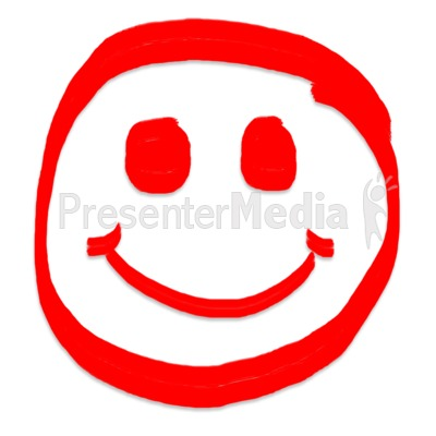 Smiley Face Painted Presentation clipart