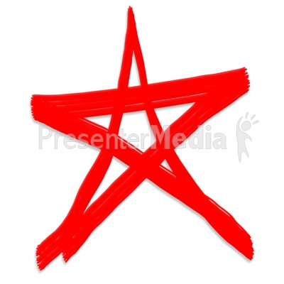 Star Painted Symbol Presentation clipart