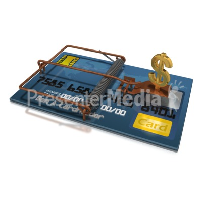 Credit Card Dollar Trap Presentation clipart