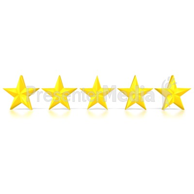Five Stars  Presentation clipart