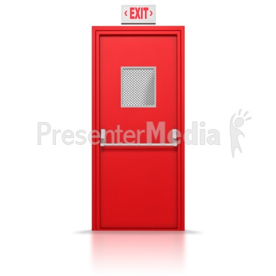 Exit Door  Presentation clipart