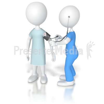 Nurse taking Patient Blood Pressure  Presentation clipart