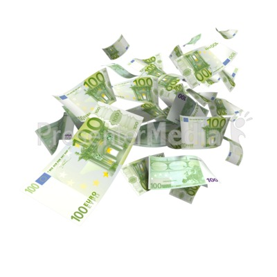 Euro Money Falling Presentation clipart