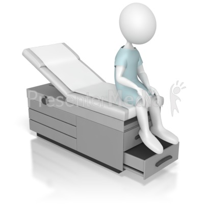 Sitting On an Examination Table Presentation clipart