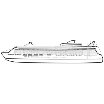 Cruise Ship Outline Drawing Presentation clipart