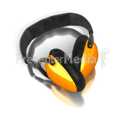 Single Pair Audio Headphones Presentation clipart