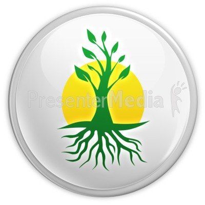 Green Growth Button Presentation clipart