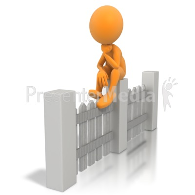 Sitting On The Fence Presentation clipart