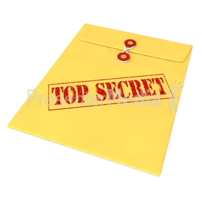 Top Secret Envelope Presentation clipart